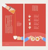 Vector modern colorful menu