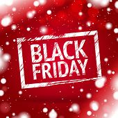foto of friday  - black Friday red background - JPG