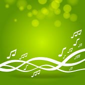 green music waves