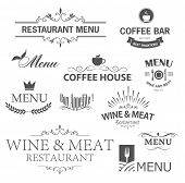 pic of restaurant  - Vintage set of restaurant signs - JPG