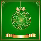 Artistic - Green Background & Gold Ornament