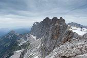 pic of thunderhead  - Dachstein glacier in Austria with dramatic sky - JPG