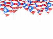 Balloon Frame With Flag Of Puerto Rico