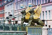 Griffon Sculpture Of Bank Bridge