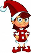Girl Elf Character In Red