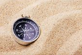 Compass On The Hot Sand