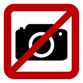 Sign Of Prohibition Of Photo Camera