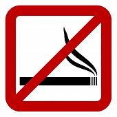 Prohibitory Sign With Cigarette Sign
