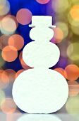 christmas symbols on bokeh background
