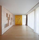 Interior modern empty room