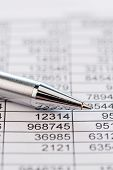 a table with the figures of revenue and expenditure. photo icon for kosetn, profit, controlling