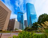 Houston downtown Smith St cityscape skyline Texas US USA