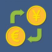 Currency Exchange. Euro And Yen(yuan).