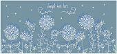 stylized flowers garden