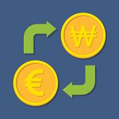 stock photo of won  - Currency exchange - JPG