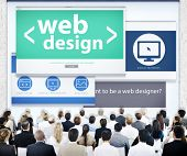 Business People Corporate Conference Web Design Concept