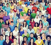 Multiethnic Group of People with Colorful Outfit