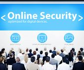 Group of Business People Seminar Online Security Concept