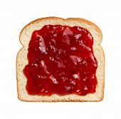Strawberry Preserves On Bread