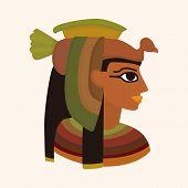 stock photo of pharaoh  - Pharaoh Theme Elements Vector - JPG