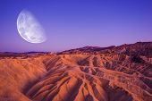 Постер, плакат: Death Valley Moon Night