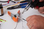 stock photo of wire cutter  - A bunch of tools used for soldering wires.