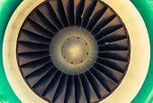 pic of jet  - Jet Engine Turbine Closeup Photo - JPG