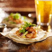 image of cilantro  - spicy fiesta shrimp tacos with avocado and cilantro - JPG