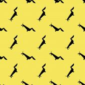 picture of rabies  - Seamless pattern with dog dachshund vector background - JPG
