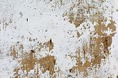 picture of concrete  - Dirty concrete wall with streaks of water stains cracks and scratches - JPG