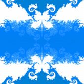 image of blue butterfly  - Abstract seamless decorative blue fractal mosaic with recognizable silhouettes of butterflies - JPG