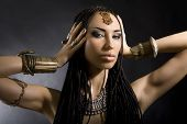 stock photo of cornrow  - Fashion Beauty - JPG