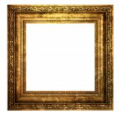 foto of hollow  - Hollow wooden frame isolated on pure white background - JPG