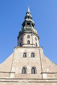 stock photo of doma  - The Doma Church Tower in the perspective - JPG