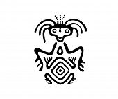 image of bestiality  - black alien in native style - JPG