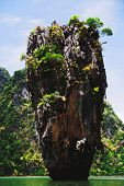 pic of james bond island  - Khao Phing Kan is a pair of islands on the west coast of Thailand in the Phang Nga Bay Andaman Sea near Phuket - JPG