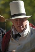 Man with Top Hat at War of 1812 Reenactment