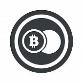 picture of bitcoin  - Image of coin with bitcoin symbol in circle - JPG