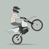 stock photo of dirt-bike  - Biker on off - JPG