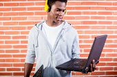 picture of programmers  - Hacker or computer programmer with laptop - JPG