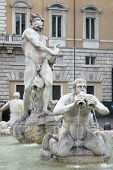Marble Fountain in Navona Square, Rome
