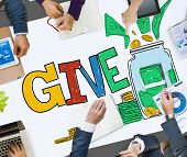 picture of charity relief work  - Give Help Donation Charity Volunteer Concept - JPG
