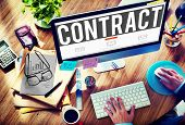 pic of bartering  - Contract Deal Agreement Negotiation Commitment Concept - JPG