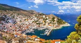 stock photo of hydra  - beautiful Greek islands  - JPG