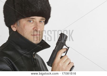 A man in Russian clothing