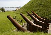 Four Old Rusty Canons