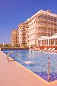 Swimming Pool In A Tourist Resort Lido Di Jesolo poster