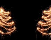 Sparkler christmas background