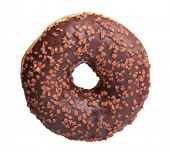 Chocolate donut isolated