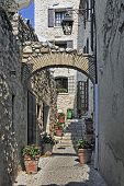 view of the typical southearn france old stone village of saint paul de vence onthe frenc riviera re